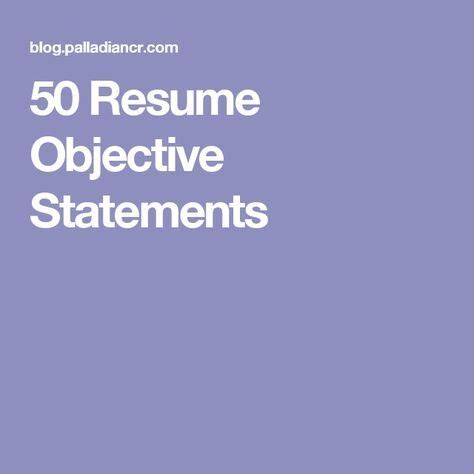 Sample resume objective statement for sales